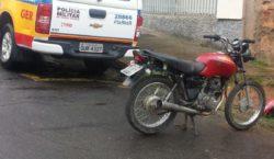 Polícia Militar recupera motocicleta roubada no bairro Francisco Bernadino