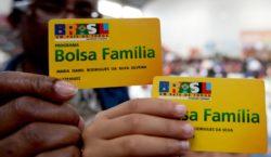 Está em vigor o pagamento do Bolsa Família