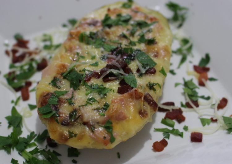 Receita de batata recheada com queijo e bacon – Diário de Receitas