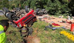 Motorista fica ferido em acidente na BR-040