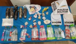 Drogas são apreendidas no bairro Santa Luzia