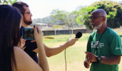 """Acadêmicos de comunicação visitam núcleo do """"Bom de Bola"""""""