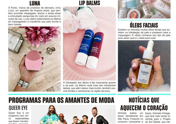 PRODUTOS SKINCARE, PROGRAMAS PARA OS AMANTES DE MODA E NOTÍCIAS