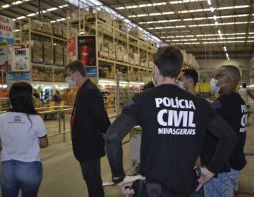 Polícia Civil de Minas Gerais e Procon realizam fiscalização em estabelecimentos comerciais