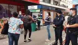 Rua Marechal Deodoro recebe ação de enfrentamento ao coronavírus