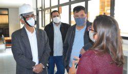 Prefeito visita obras do novo reservatório de água da Cesama…