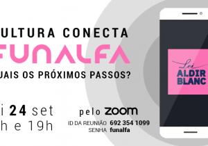 "Funalfa promove reuniões virtuais para discutir edital da Lei ""Aldir Blanc"""