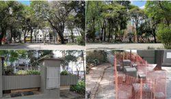 Empav realiza manutenções no Parque Halfeld, canteiros e praças