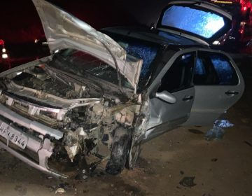 Colisão frontal deixa um morto e cinco feridos no Km 66 da BR-267