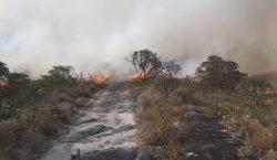 Incêndio é registrado em Ibitipoca