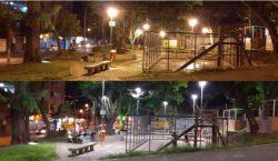 Praça do Bairro Santa Terezinha ganha nova iluminação