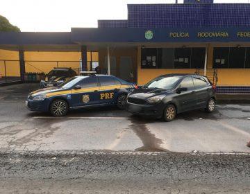 PRF recupera veículo furtado, com placas de Belo Horizonte, durante operação na BR-040