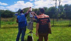 Os pluviômetros de Juiz Fora recebem manutenção nesta semana