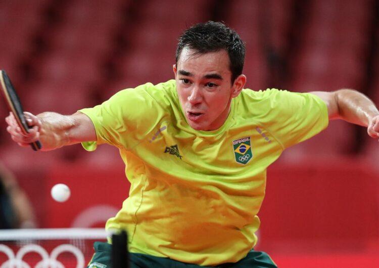 Calderano é eliminado nas quartas de final do tênis de mesa