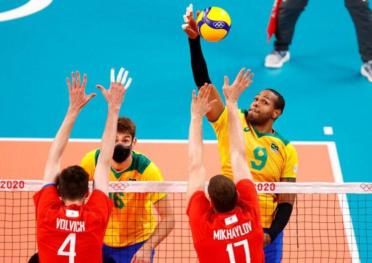 Brasil perde para o Comitê Russo no vôlei masculino