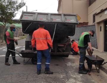Empav realiza Operação tapa-buraco no bairro Centenário