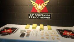 Polícia Militar prende autores por tráfico de drogas no Olavo…