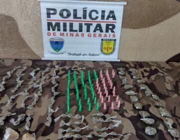 Polícia Militar apreende menor infrator e materiais relacionados ao tráfico de drogas no Jardim Natal