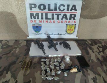 Polícia Militar prende autor de homicídio consumado no bairro Granjas Bethânia e apreende armas e materiais relacionados ao tráfico de drogas