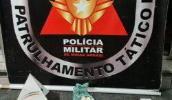 Polícia Militar apreende materiais relacionados ao tráfico de drogas no…