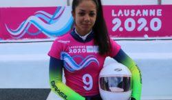 Larissa Cândido representa Brasil no skeleton em Lausanne 2020