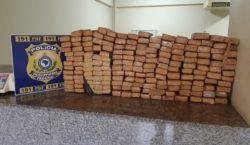 Polícia Rodoviária Federal apreende veículo com 180 tabletes de maconha