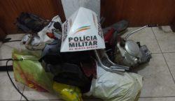 Polícia Militar encontra local de desmanche de motocicletas furtadas
